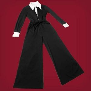 Witchy vintage 1970s Wednesday Addams jumpsuit!